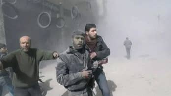 98 people killed in rebel-held Damascus suburb.