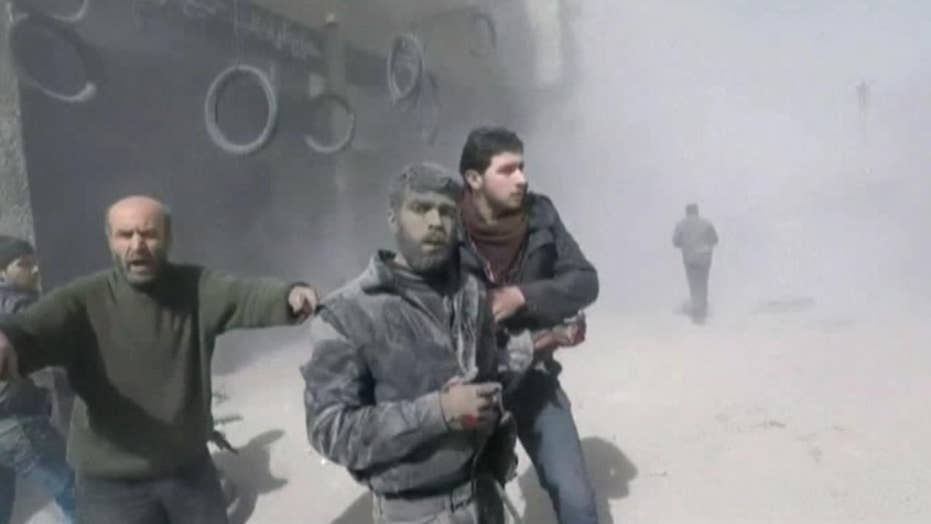 98 killed in Syria airstrikes, shelling