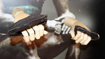 Archaeologists uncover ancient Roman boxing gloves at the Roman fort of Vindolanda just south of Hadrian's Wall in Northern England.