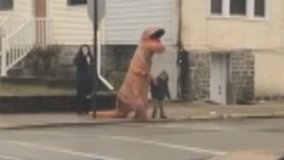 Police respond to reports of dinosaur on the loose