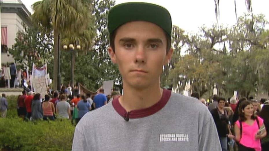 Parkland survivor makes case for stricter gun control