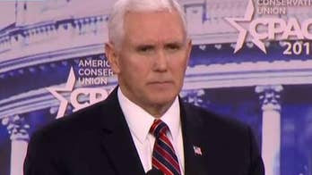 Vice President Mike Pence addresses school shootings at CPAC, says American mourns with the victims of the Parkland massacre, assures attendees that the Trump administration will take strong action to protect America's schools.