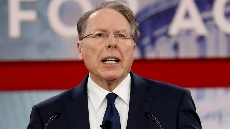 NRA CEO Wayne LaPierre speaks at CPAC in the wake of the Florida shooting.