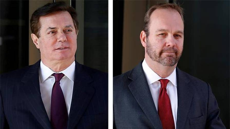 Special Counsel Robert Mueller files a 32-count indictment Thursday hitting former Trump campaign chairman Paul Manafort and aide Rick Gates; chief intelligence correspondent Catherine Herridge reports from Washington.
