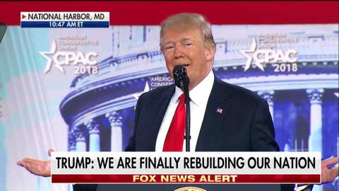 President Trump at CPAC: the wall will be built.