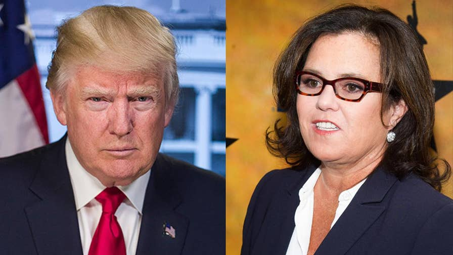"Comedian Rosie O'Donnell put her dislike for President Trump on t-shirts. They apparel is selling on Etsy, with proceeds going to ""anti-Trump candidates and causes."""
