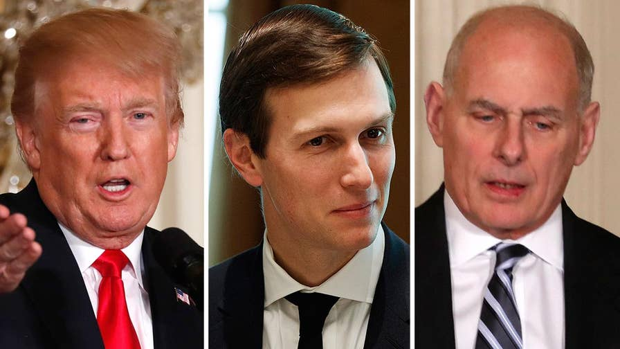 President Trump says his son-in-law has been treated very unfairly, says he's sure the White House chief of staff John Kelly will make the right decision on Jared Kushner's security clearance.