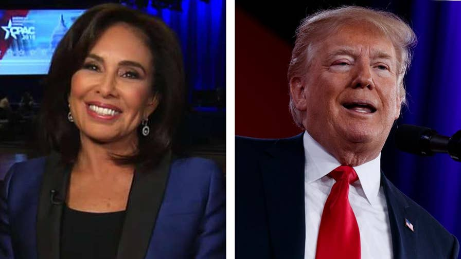 Trump delivered energized CPAC speech; 'Justice' host Jeanine Pirro reacts to the president's remarks and discusses latest reports about anti-Trump dossier on 'Hannity.'