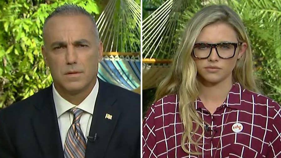 Andrew Pollack, whose daughter Meadow was murdered in Parkland, and student Delaney Tarr, who's mobilizing for change with other survivors, demand change.