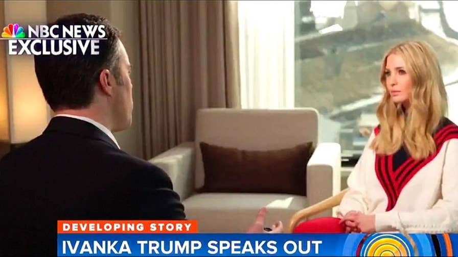 First daughter Ivanka Trump scolded NBC and MSNBC reporter Peter Alexander during an interview when he asked her if she believed her father's sexual misconduct accusers.