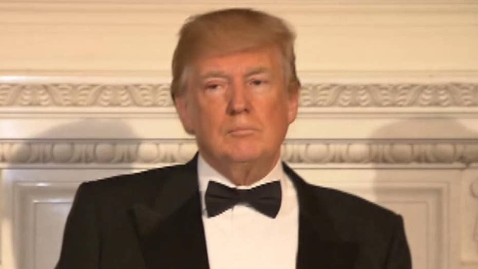 President Trump speaks at the Governor's Ball