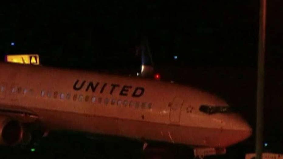 United Airlines flight lands safely after takeoff mishap