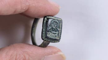 A ring with the image of St. Nicholas was dug up by an Israeli gardener. Researchers date it to around the 12th - 15th centuries.