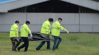 Raw video: Officials in Ecuador investigate scene after two men fall from New York-bound plane's landing gear.