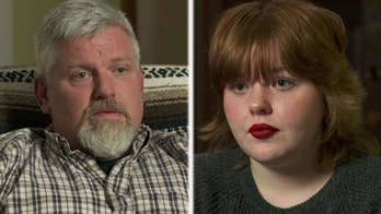 Father and daughter have opposing political views, but put aside differences for family.