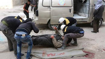 First responders work to save civilians attacked by their own government with little equipment, aid or reprieve from years of war; Rich Edson reports from the State Department.