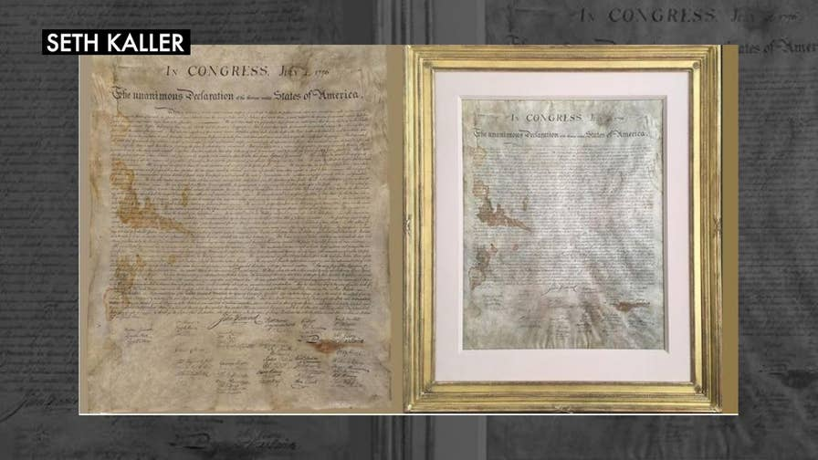 Extremely rare copy of the Declaration of Independence, once hidden ...