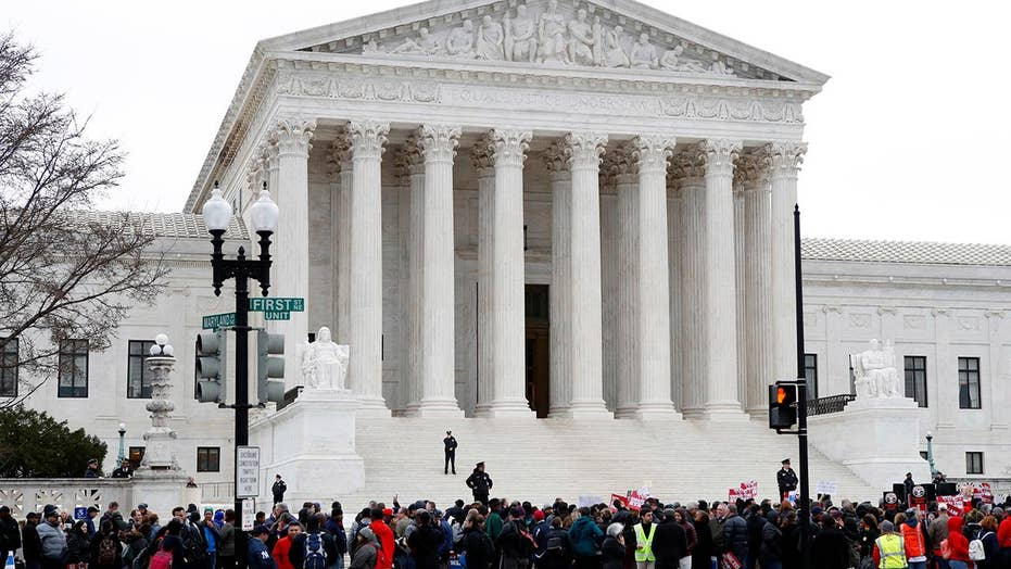 Supreme Court Justice quiet in case that could crush unions