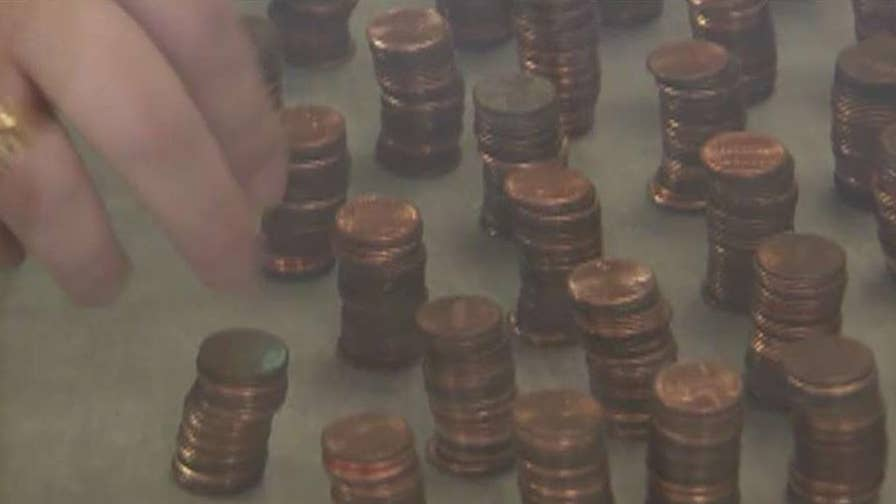 Dana McCool paid her water bill in pennies as a peaceful protest to rising utility costs.