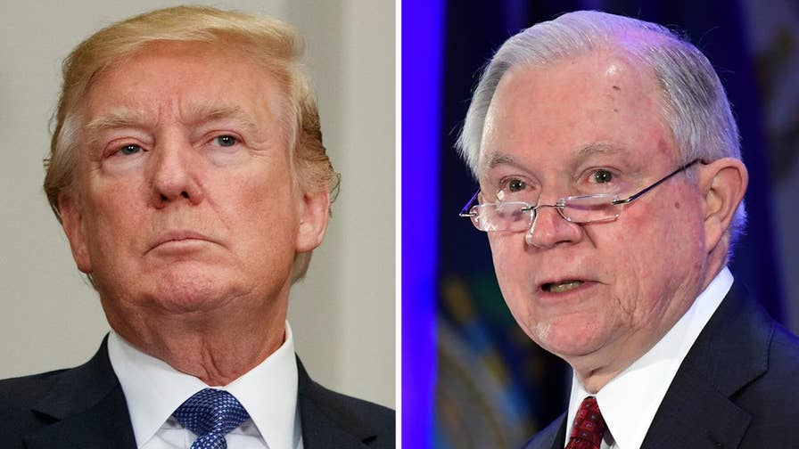 President Trump calls Attorney General Sessions's decision to use Department of Justice inspector general to investigate alleged FISA abuse 'disgraceful' on Twitter.