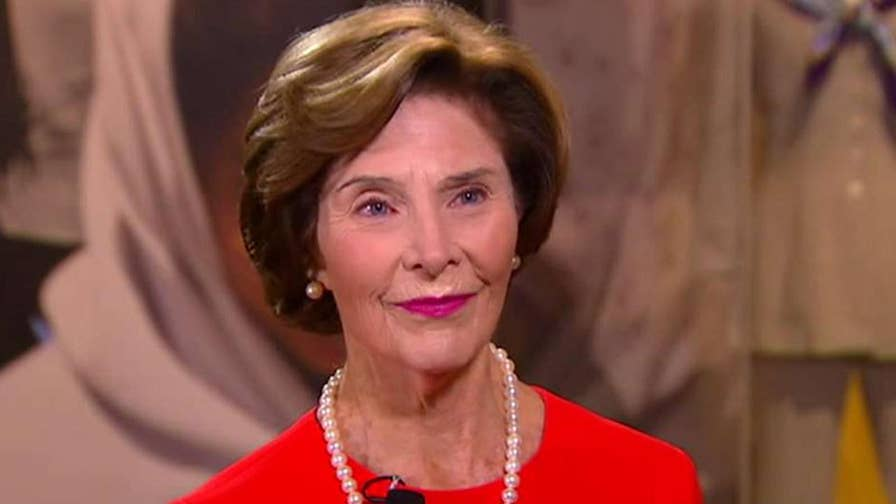 Former first lady Laura Bush gives an exclusive interview and tour ahead of a new exhibit opening at the Bush Center.