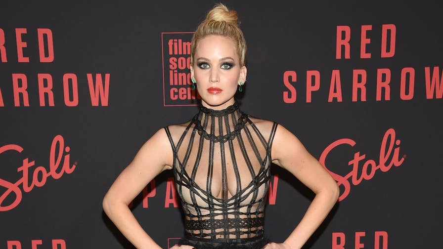 Jennifer Lawrence has said she doesn't like to get too political, but the actress decided to weigh in on the gun debate anyway when asked about on-screen violence at the premiere of 'Red Sparrow.'