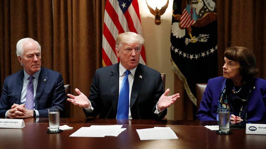 Trump demands lawmakers take action on gun violence