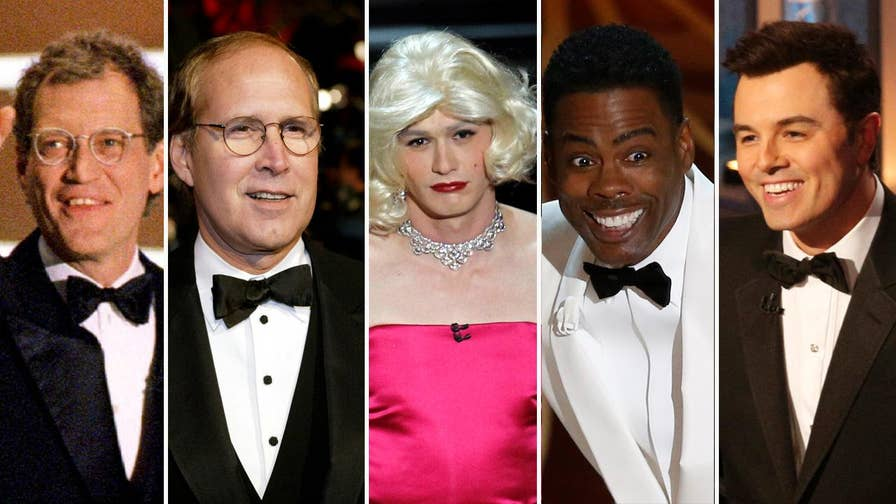 With Oscars season here, take a look at some of the most controversial hosts from Seth Macfarlane to Chevy Chase.