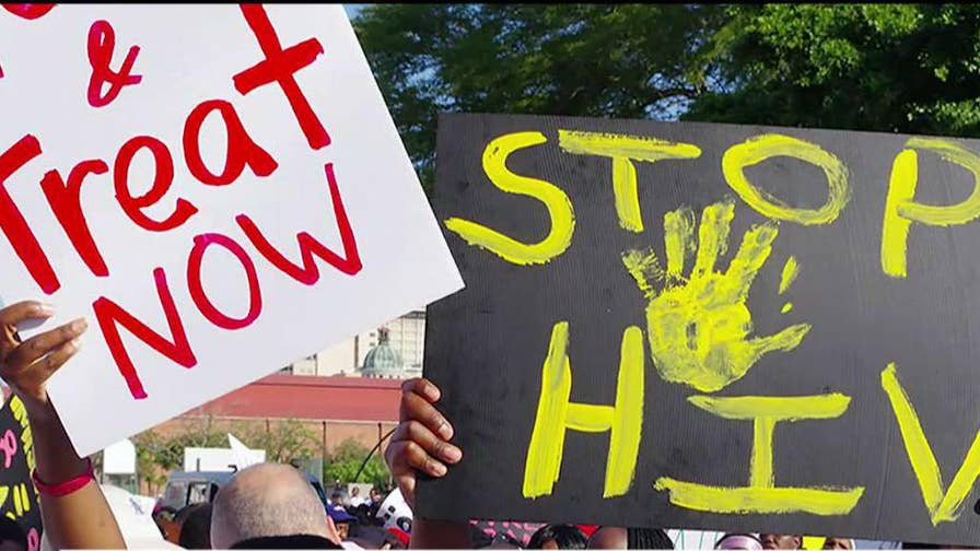 1.1 million people in the U.S. are living with HIV; Mike Emanuel reports.