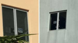 New photos of the Parkland, Florida shooting scene appear to show that hurricane-resistant windows may have stopped the gunman from shooting students from a higher vantage point.