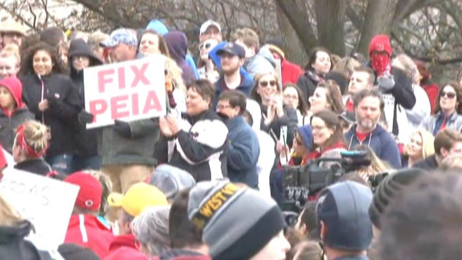 West Virginia teachers strike over denied pay raise