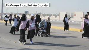 Saudi Arabia hosts its first 3k road race for women as part of the country's modernization drive.