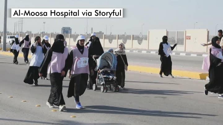 Saudi Arabia hosts its first race for women
