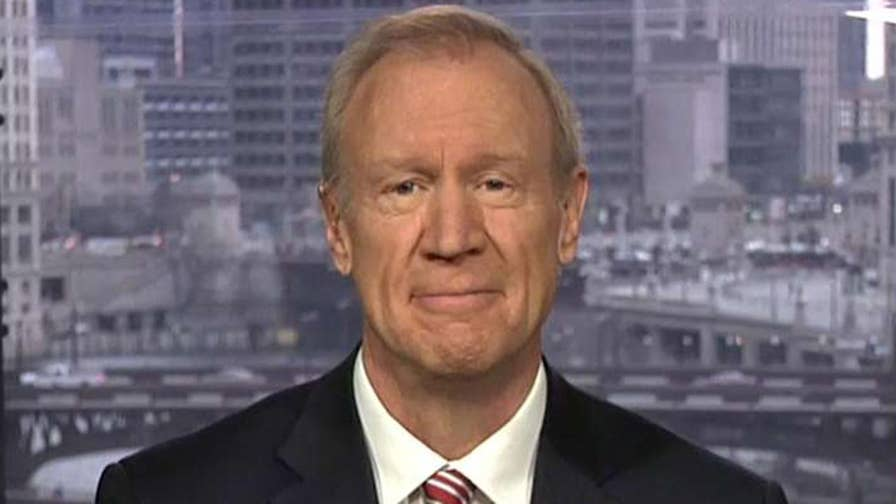 Illinois gubernatorial race is shaping up to be a 2020 microcosm. Republican Gov. Rauner talks about draining the swamp in Illinois.