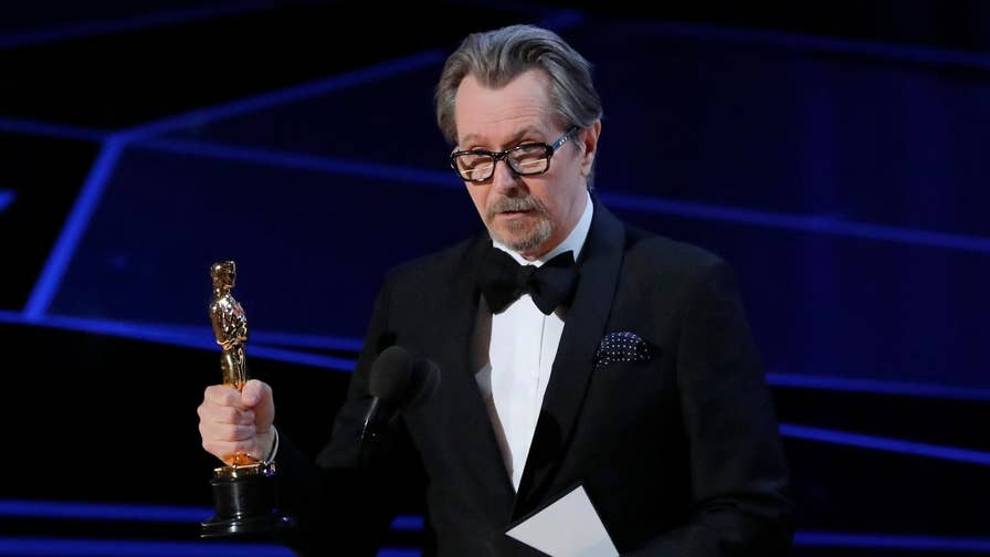 """Gary Oldman took home the Oscar for Best Actor for his role in """"Darkest Hour."""" But the win is raising eyebrows because Oldman was accused of domestic abuse by an ex-wife."""