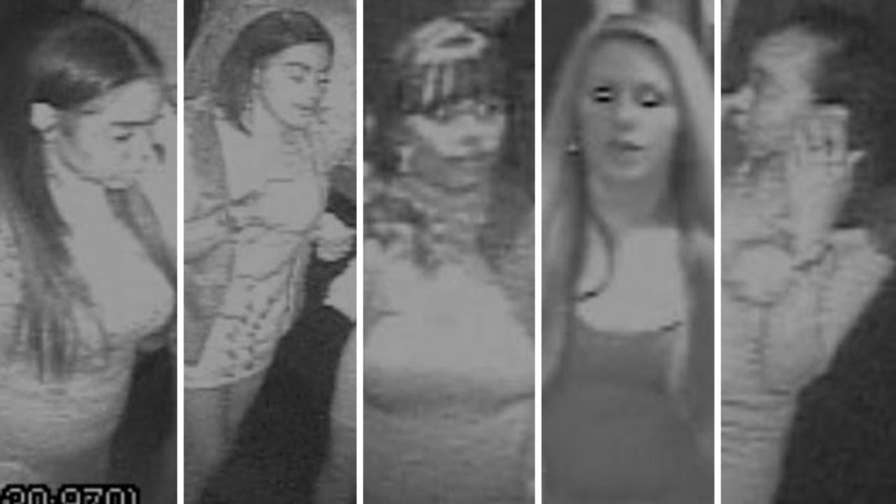 Raw video: Surveillance footage released of women suspected of stealing bag containing approximately $40,000 and $115,000 worth of jewelry leaving 40/40 Night Club in Manhattan.