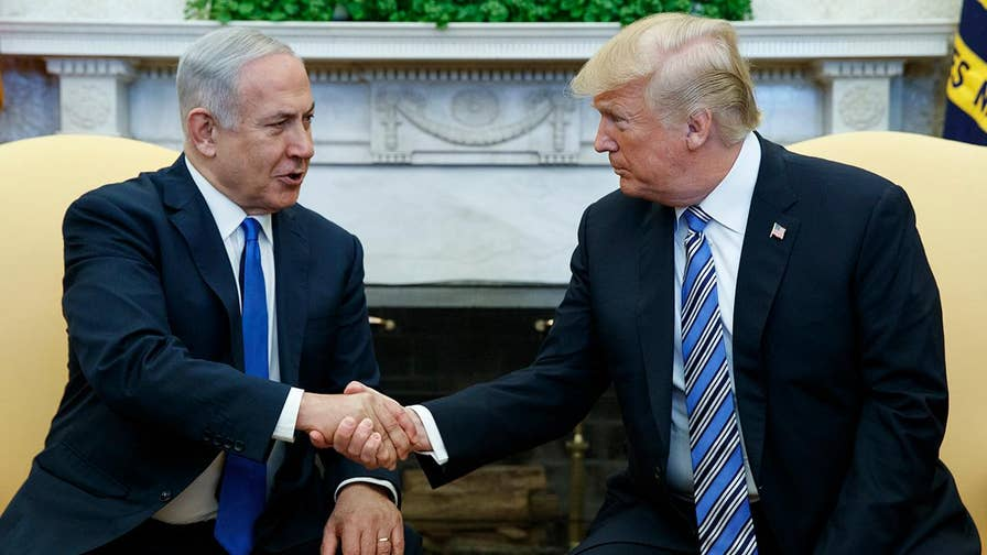 President Trump meets with Israeli Prime Minister Netanyahu at the White House.