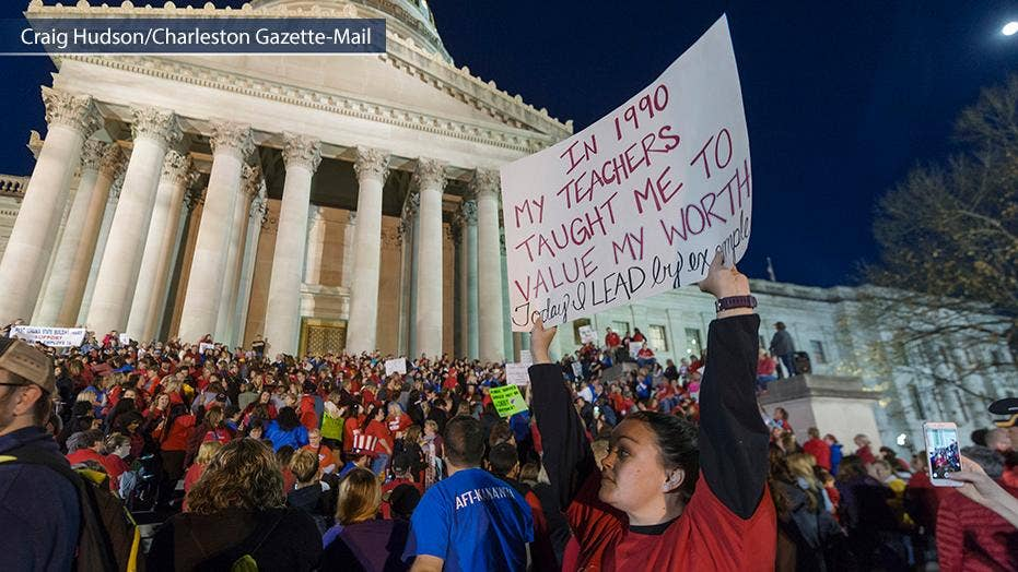 West Virginia teachers strike enters 8th day