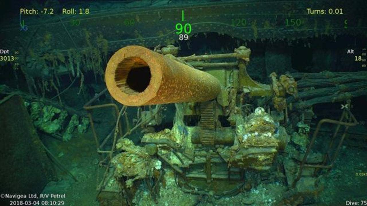 USS Lexington discovered by billionaire Paul Allen's crew 76 years after WWII sinking