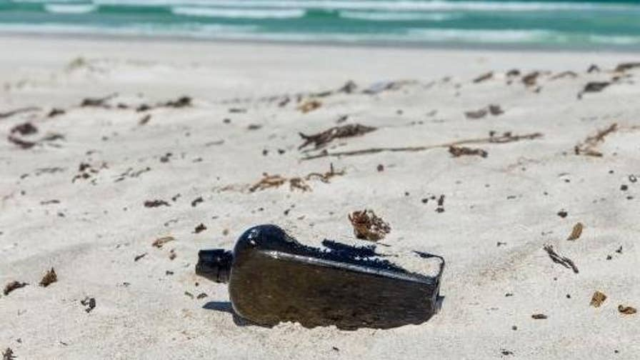 A message-in-a-bottle dated back to 1886 was found on an Australian beach by a family.