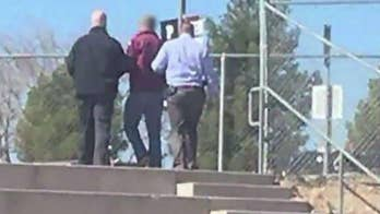 Alert student noticed smoking backpack at high school in Utah; William La Jeunesse reports from Los Angeles.