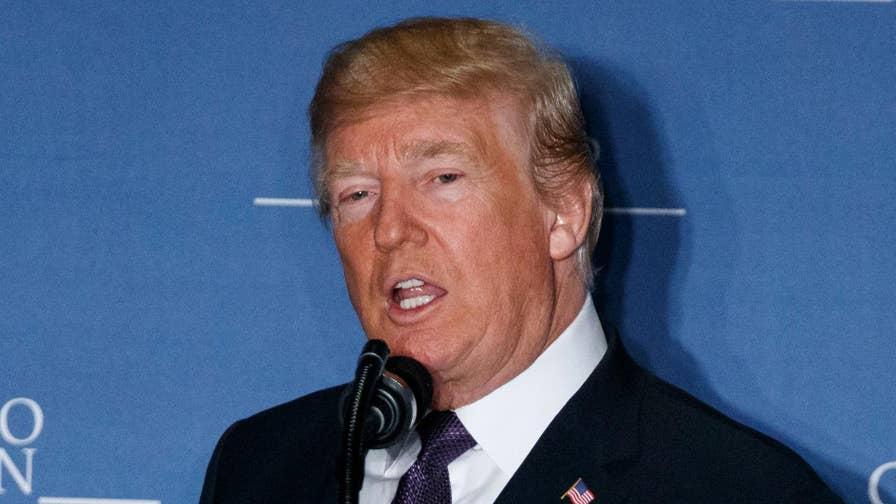 President Trump delivers remarks at the Latino Coalition Legislative Summit.