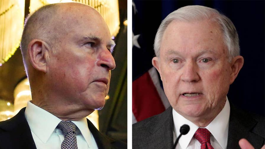 The Department of Justice sues California alleging obstruction of federal immigration enforcement; reaction and analysis on 'The Five.'