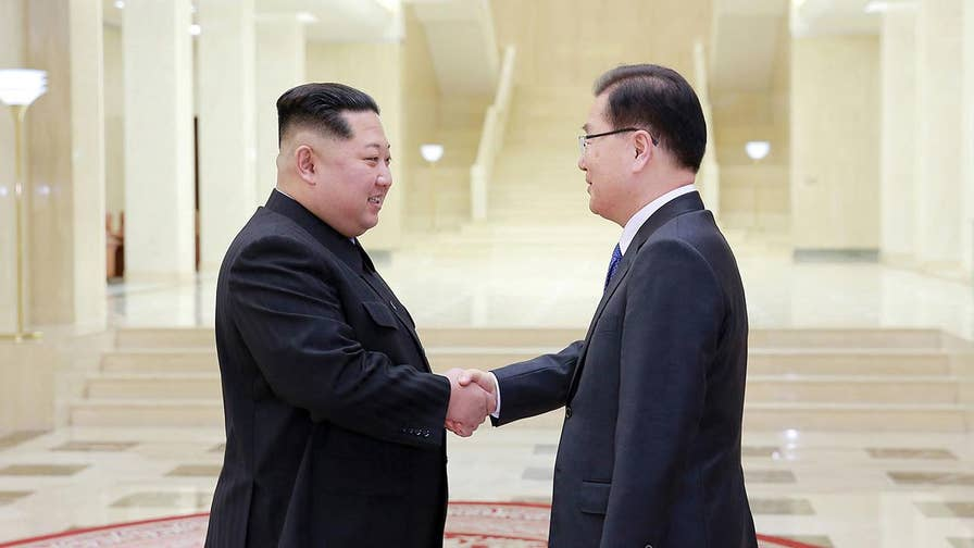 The president of South Korea says sanctions on North Korea simply will not be eased based on the hope of talks over its nuclear program; Rich Edson reports from the State Department.