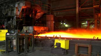 President Trump set to announce tariffs on steel and aluminum imports, But some U.S. producers say the 25 percent tariff will hurt them as well; William La Jeunesse reports from Fontana, California.