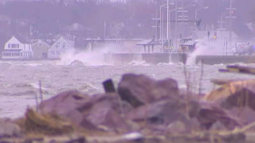 A moderate coastal flooding warning is in effect in Massachusetts after two winter storms in one week; Bryan Llenas reports on how the region is responding.