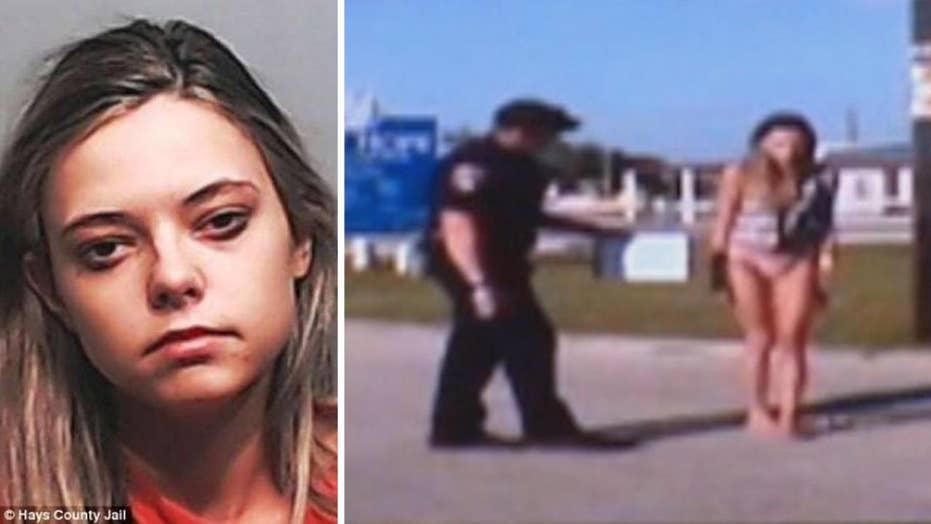 Bikini-clad drunk driver's sobriety test after deadly crash