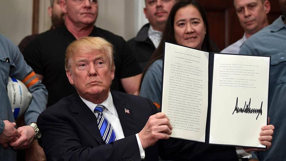 President Trump announces tariffs on foreign steel, aluminum