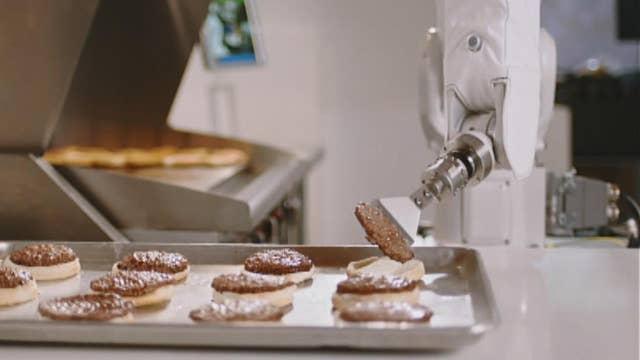 Flippy, the burger-flipping robot, takes a break