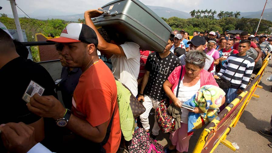 Food and medicine shortages force thousands of Venezuelans cross into neighboring Colombia; Rich Edson reports from the State Department.